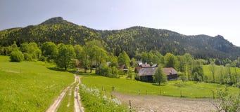 Village Podrozsutec in Mala Fatra Stock Photos