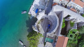 Village Polace on island Mljet, aerial Royalty Free Stock Photography