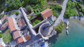Village Polace on island Mljet, aerial Royalty Free Stock Images
