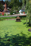 Village pond, North Waltham, Hampshire Stock Image