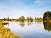 Village pond Royalty Free Stock Images