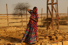 Village poor people in Desert Rajasthan India Royalty Free Stock Photo