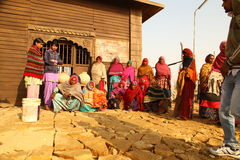 Village poor people in Desert Rajasthan India Stock Photography