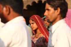 Village poor people in Desert Rajasthan India Stock Photos