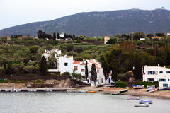 The  village of Port Lligat with home of Dali Royalty Free Stock Images