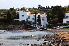 The  village of Port Lligat with home of Dali. Cadaques Royalty Free Stock Photography