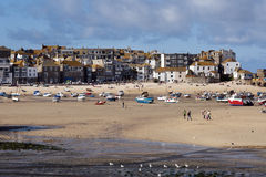 Village and port of St. Ives Stock Image
