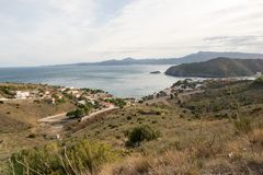 Through the village of Portbou on the Costa Brava. Girona Stock Photography