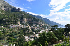 The Village of Positano Along the Amalfi Coast Stock Image