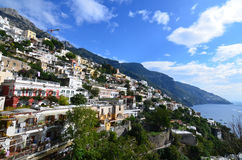 The Village of Positano Terraced Along the Hills of Italy Royalty Free Stock Images