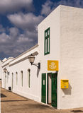 Village Post Office in Lanzarote, Canary Islands Stock Photography