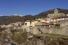 Village of Prats de Mollo -La Preste, Vallespir, Languedoc Roussillon, Pyrenees Orintales, France Stock Photo