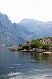 The village of Prcanj. Idealistic village Prcanj in Montenegro Stock Image