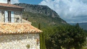 Village in Pre Alpes in South France stock video
