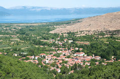 Village in Prespa District of Macedonia Republic Royalty Free Stock Photo