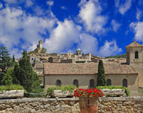 Village In Provence. Picturesque village of Lourmarin in Provence, France Stock Photos