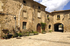 Village of Pubol, Emporda, Girona, Spain Stock Photography