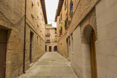 The village of Puente la reina. In Navarra royalty free stock photography