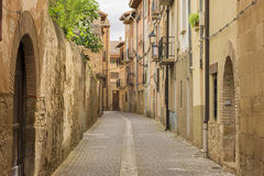The village of Puente la reina. In Navarra stock images