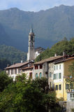 The village of Puria on Valsolda Stock Image