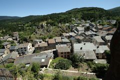 Village in Pyrenees Stock Images