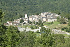 Village in Pyrenees Stock Image