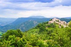 Village in Pyrenees. Seniu, Huesca Stock Photos