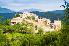 Village in Pyrenees. Seniu Royalty Free Stock Images