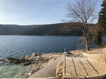 The Village of Rabac in Istria,adriatic Sea. Croatia stock photo