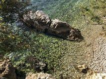 The Village of Rabac in Istria,adriatic Sea. Croatia royalty free stock photo