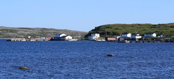 Village of Raleigh in Newfoundland Stock Images
