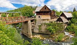 Village of Rastoke river canyon Royalty Free Stock Images
