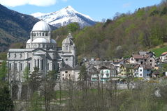 The village of Re on Vigezzo Valley. Italy Royalty Free Stock Image