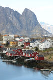 The village of Reine in Lofoten royalty free stock images