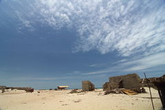 Village Remains after Cyclone. Remains of village in Dhanushkodi, Tamilnadu which was destroyed in 1964 Cyclone Stock Photography