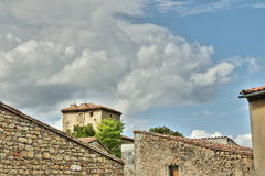 Village of  Rennes le Chateau  in Corbieres Stock Image