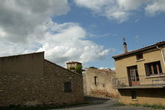 Village of  Rennes le Chateau  in Corbieres Stock Images