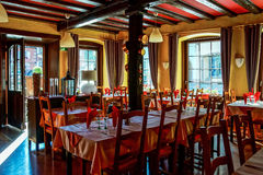 Village restaurant interior Royalty Free Stock Photo