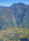 Village in Reunion Island stock images