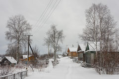 Village of Revselga in wintertime Royalty Free Stock Images
