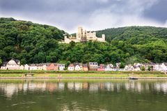 Village on the Rhine River Stock Photo