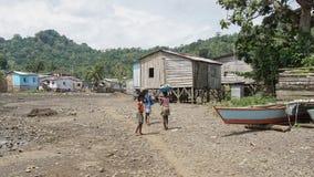 Village Ribeira Afonso, Sao Tome, Africa Royalty Free Stock Photos