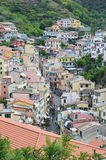 Village of Riomaggiore, in the Cinque Terra, northwestern Italy Stock Image