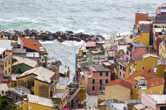 Village of Riomaggiore on the Cinque Terre Royalty Free Stock Photography