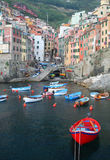 Village of Riomaggiore in the Cinque Terre, Italy Royalty Free Stock Image