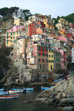 Village of Riomaggiore in Italy Stock Photos