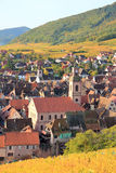 The village of Riquewihr in Alsace Stock Photo