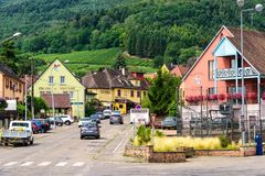 Village of Riquewihr, France Stock Image