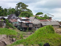 Village at the river amazonas Stock Photos