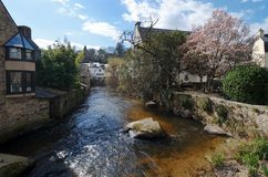Village and river of Pont Aven Stock Photos
